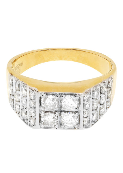 Mens Diamond Pinky Ring| 1.67 Carats| 7.1 Grams