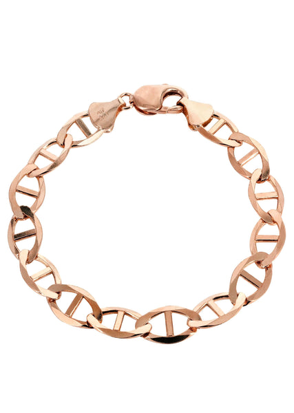 14K Rose Gold Bracelet Solid Mariner