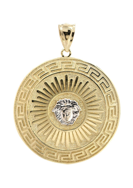Big Medusa    10K Yellow Gold Pendant. | 11.9 Grams