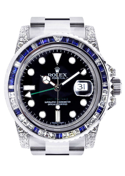 Diamond Rolex Gmt-Master 2 | Stainless Steel | 40 Mm