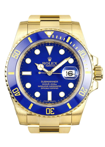 Rolex Submariner | 18K Yellow Gold | 40 Mm