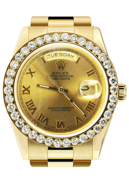 Diamond Rolex Day-Date | 18K Yellow Gold