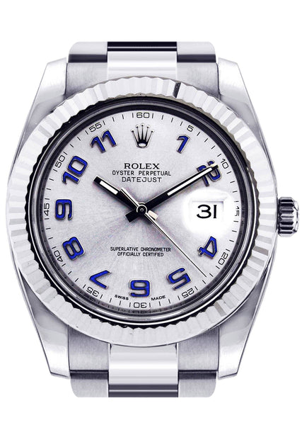 Rolex Datejust 2 | Stainless Steel |  18K White Gold Bezel | 41 Mm