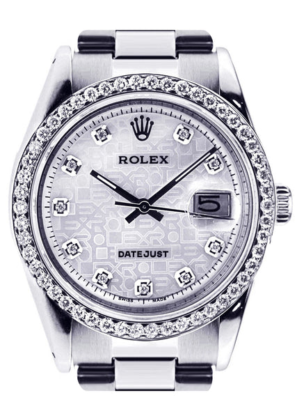 Diamond Rolex Datejust | Stainless Steel | 36 Mm