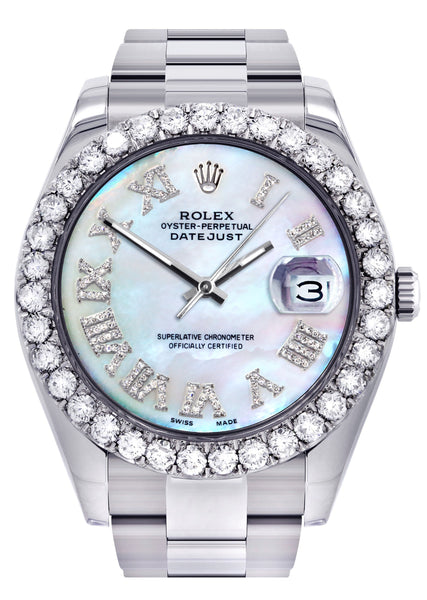 Rolex Datejust II Watch | 41 MM | Custom Pearl Roman Dial | Oyster Band