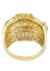 Last Supper 10K Yellow Gold Mens Ring. | 8.4 Grams