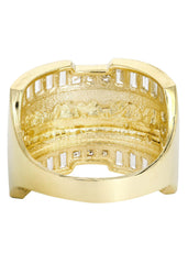 Last Supper & Cz 10K Yellow Gold Mens Ring. | 8.4 Grams MEN'S RINGS FROST NYC
