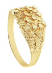 Gold Nugget Ring- Mens Ring 10K Gold | 2.1 Grams MEN'S RINGS FROST NYC