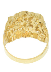 Nugget 10K Yellow Gold Mens Ring. | 6.1 Grams