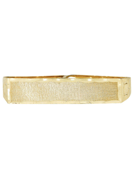 Two Finger 10K Yellow Gold Mens Ring. | 7.4 Grams