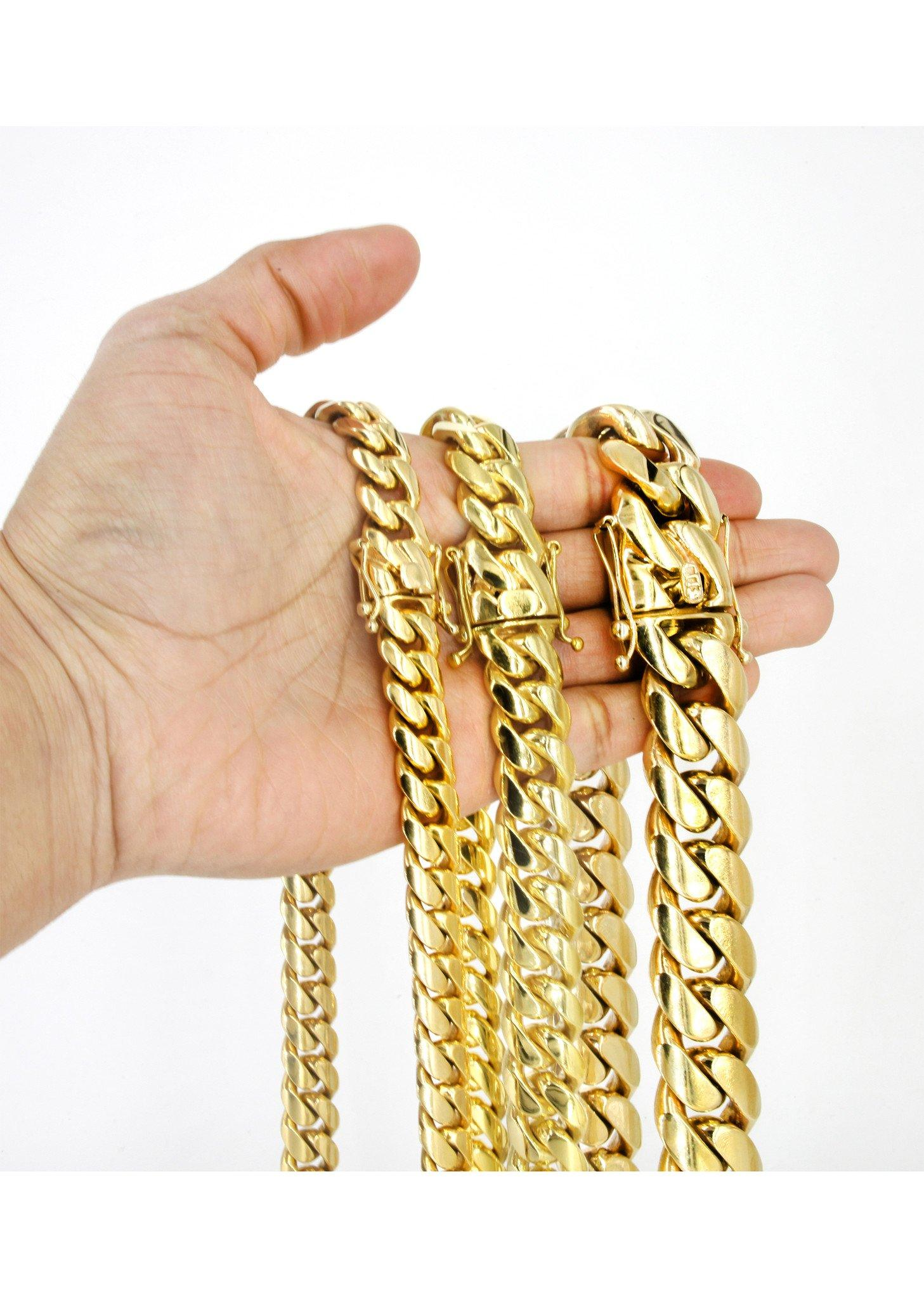 7fcb77585ac1e Heavy Solid Gold Miami Cuban Link Chain Customizable (10MM-20MM ...