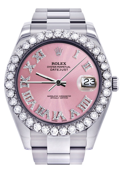 Rolex Datejust II Watch | 41 MM | Custom Pink Roman Dial | Oyster Band