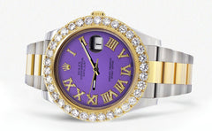 Rolex Datejust II Watch | 41 MM | Custom Purple Roman Dial | Oyster Band CUSTOM ROLEX FrostNYC
