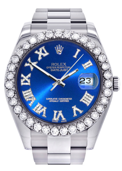 Rolex Datejust II Watch | 41 MM | Custom Blue Roman Dial | Oyster Band