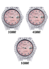 Rolex Datejust II Watch | 41 MM | Custom Pink Jubilee Diamond Dial | Oyster Band