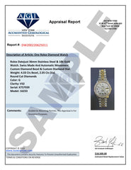 Womens Diamond Gold Rolex Watch | 1 Carat Bezel | 26Mm | Blue Diamond Dial | Jubilee Band
