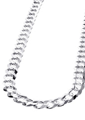 Mens White Gold Chain - Solid Cuban Link 10K Gold MEN'S CHAINS MANUFACTURER 1