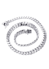 Mens White Gold Chain - Solid Miami Cuban Link 10K Gold MEN'S CHAINS MANUFACTURER 1