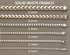 14K Gold Chain White Franco