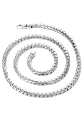 White Gold Chain - Mens Solid Franco Chain 10K White Gold MEN'S CHAINS FROST NYC