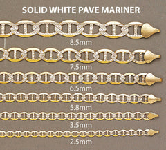 Gold Chain - Mens Diamond Cut Mariner Chain 10K Gold MEN'S CHAINS FROST NYC
