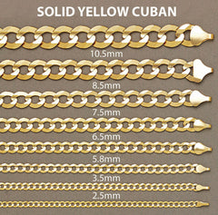 Solid Mens Cuban Link Bracelet 10K Yellow Gold Men's Gold Bracelets FROST NYC