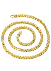 Solid Mens Franco Chain 10K Yellow Gold