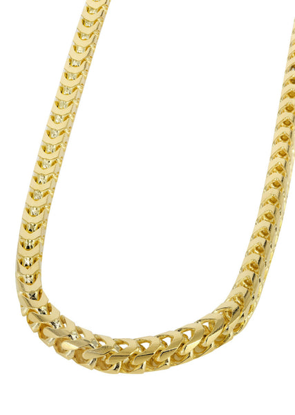 14K Gold Chain - Mens Solid Franco Chain