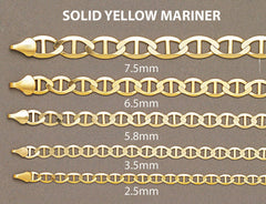 Gold Chain - Mens Solid Mariner Chain 10K Gold MEN'S CHAINS FROST NYC