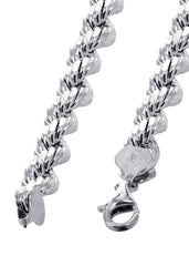 Solid Mens Rope Bracelet 10K White Gold Men's Gold Bracelets MANUFACTURER 1