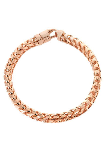 14K Rose Gold Bracelet Solid Franco