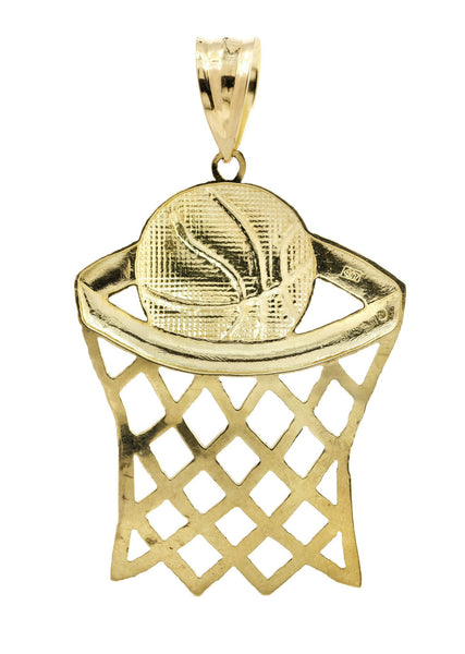 Big Basketball  10K Yellow Gold Pendant. | 11.2 Grams