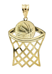 Big Basketball 10K Yellow Gold Pendant. | 11.2 Grams MEN'S PENDANTS FROST NYC