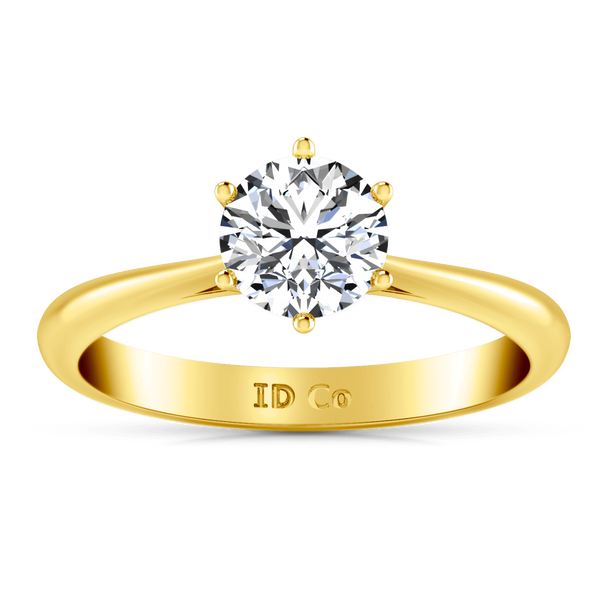 Solitaire Diamond Engagement Ring Alexa  14K Yellow Gold