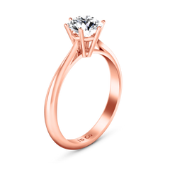 Solitaire Diamond Engagement Ring Alexa  14K Rose Gold