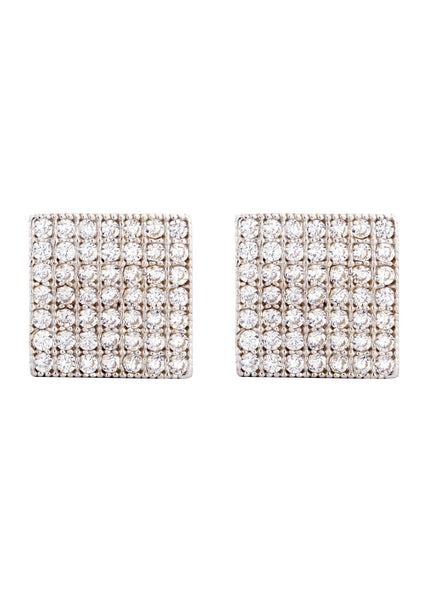 Cz 10K Yellow Gold Studs | Appx. Diameter 0.3 Inches