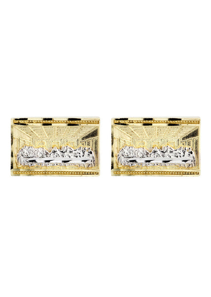 Last Supper 10K Yellow Gold Earrings | Appx 1/2 Inches Wide