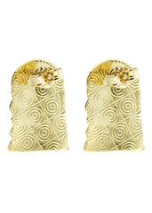 Jesus Head 10K Yellow Gold Earrings | Appx 1/2 Inches Wide Gold Earrings For Men FROST NYC