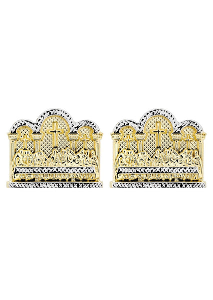 Last Supper 10K Yellow Gold Earrings | Appx 1 3/8 Inches Wide