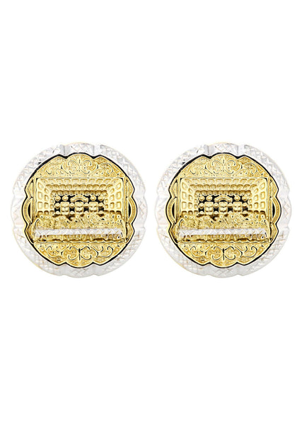 Last Supper 10K Yellow Gold Earrings | Appx 1.1 Inches Wide