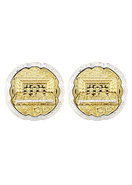 Last Supper 10K Yellow Gold Studs | Appx. Diameter 1.1 Inches
