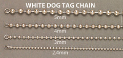 14K White Gold Bracelet Dog Tag