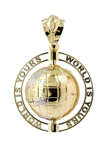 World Is Mine Pendant 10K Yellow Gold | 24 Grams