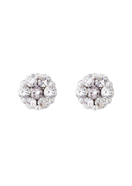 Stud Diamond Earrings For Men Illusion Set | 14K Yellow Gold | 0.43 Carats
