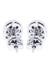Stud Diamond Earrings For Men Illusion Set | 14K White Gold | 0.99 Carats MEN'S EARRINGS FROST NYC
