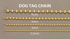 14K Gold Chain - Dog Tag Chain