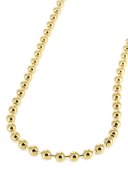 Womens 14K Gold Chain - Dog Tag Chain
