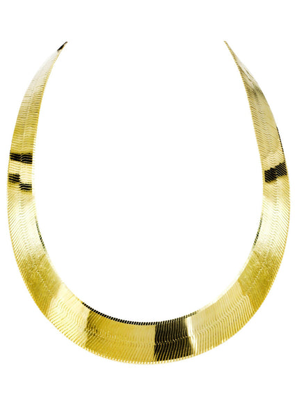 Mens Herringbone Chain | 10K Yellow Gold