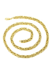 Gold Chain - Mens Italian Bizantine Chain 10k Gold