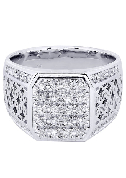 Mens Diamond Ring| 0.84 Carats| 14.01 Grams